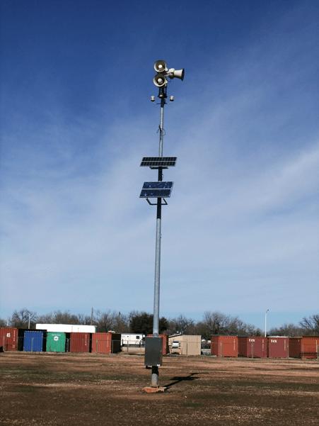 solar powered siren